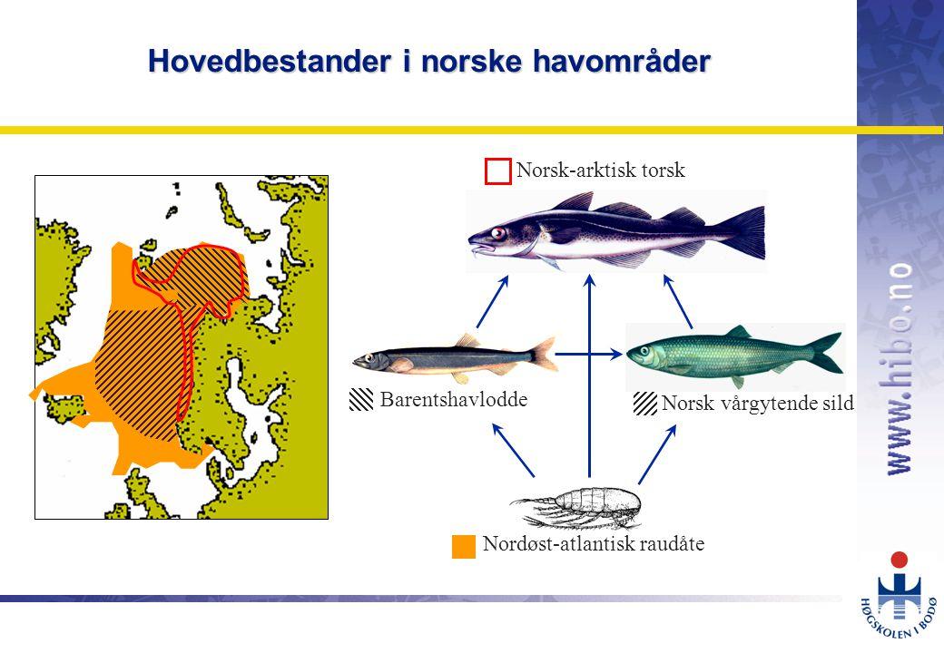 Hovedbestander i norske havområder