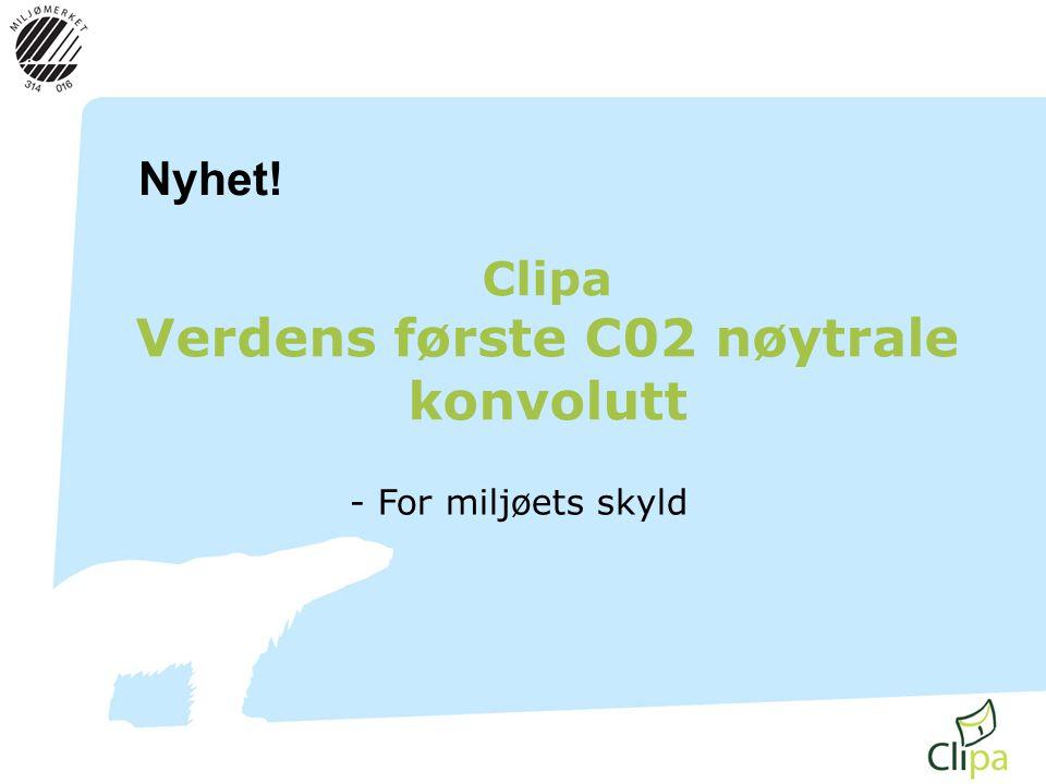Clipa Verdens første C02 nøytrale konvolutt