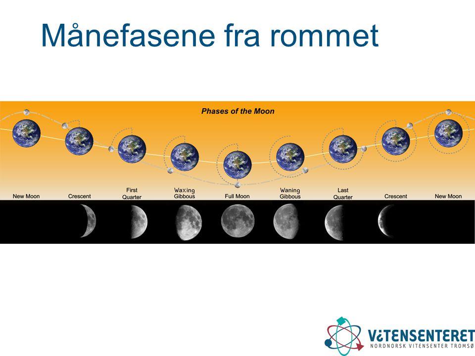 Månefasene fra rommet Månebaneanimasjon: http://filarkiv.viten.no/ content=moon_rotate.