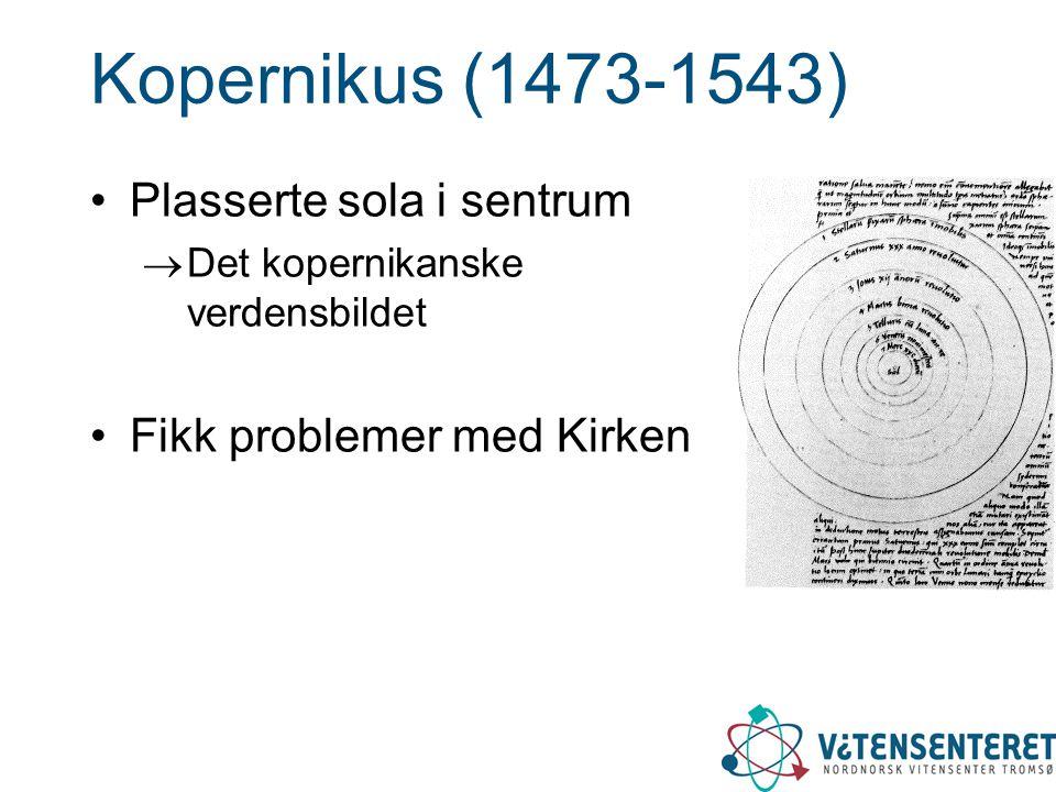 Kopernikus (1473-1543) Plasserte sola i sentrum