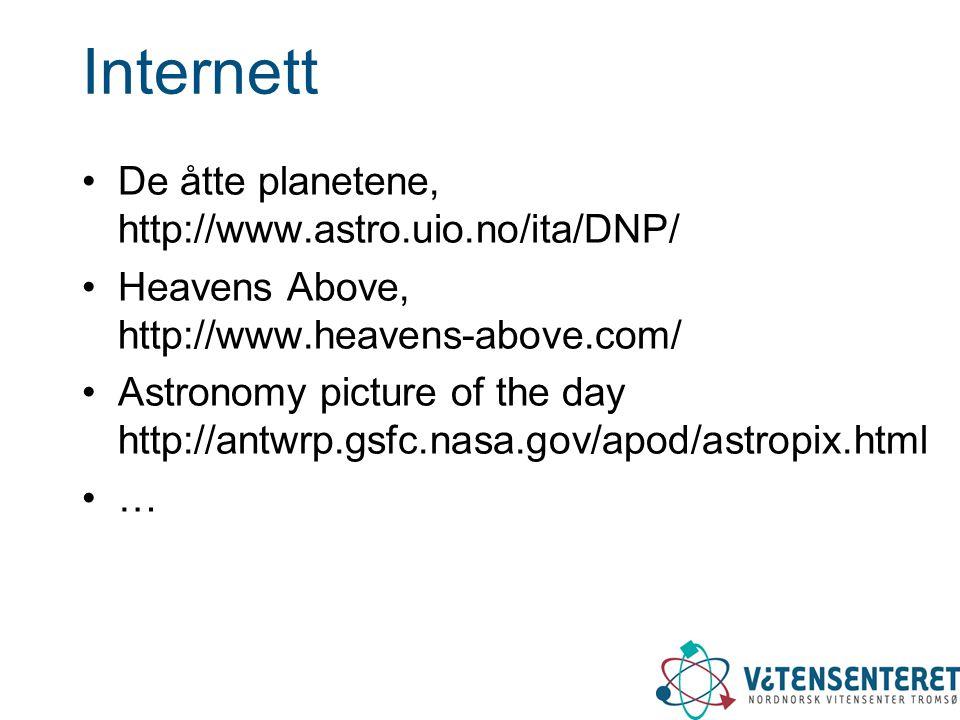 Internett De åtte planetene, http://www.astro.uio.no/ita/DNP/
