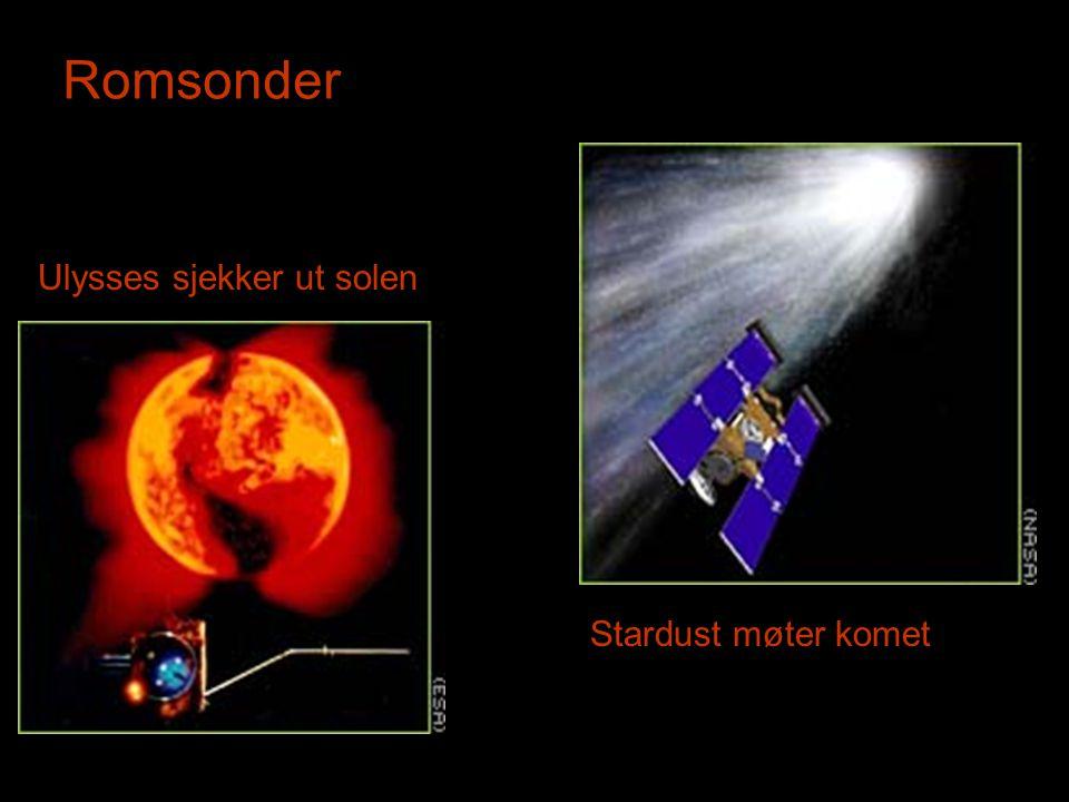 Romsonder Ulysses sjekker ut solen Stardust møter komet