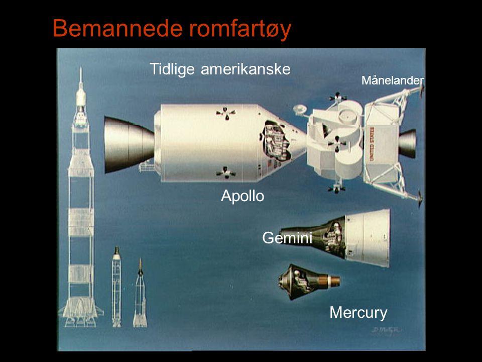 Bemannede romfartøy Tidlige amerikanske Apollo Gemini Mercury