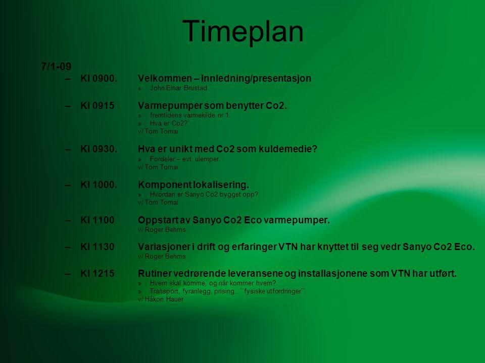 Timeplan 7/1-09 Kl 0900. Velkommen – Innledning/presentasjon