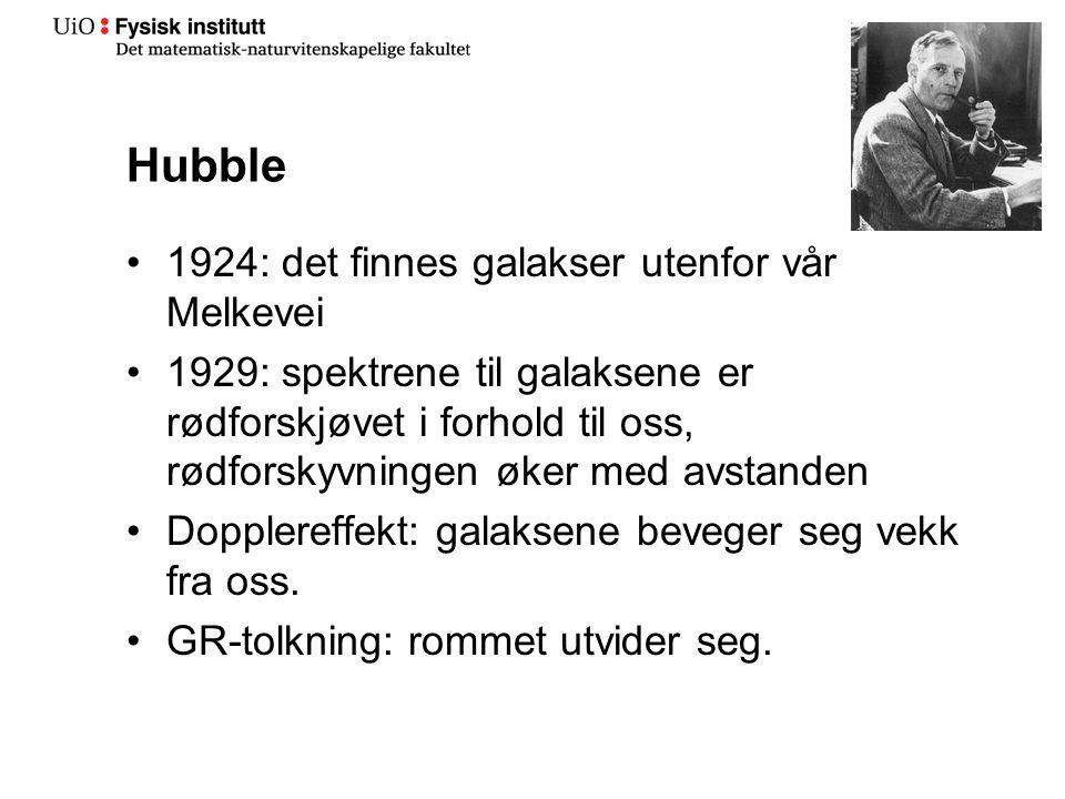 Hubble 1924: det finnes galakser utenfor vår Melkevei