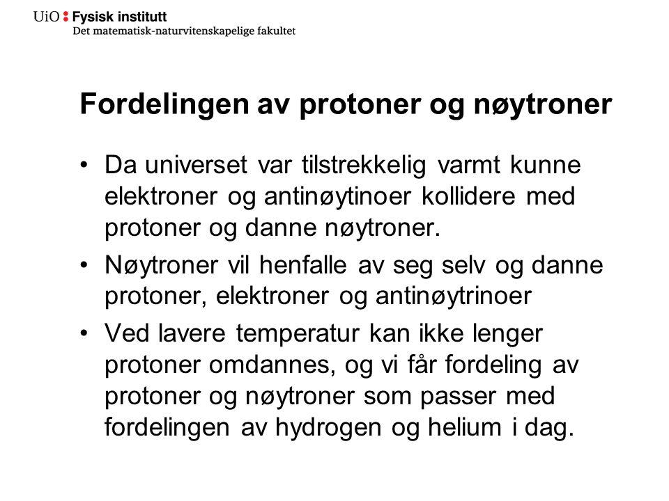 Fordelingen av protoner og nøytroner