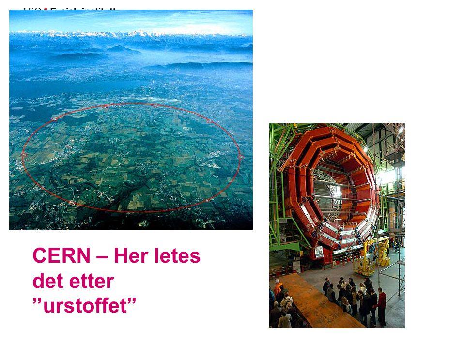CERN – Her letes det etter urstoffet