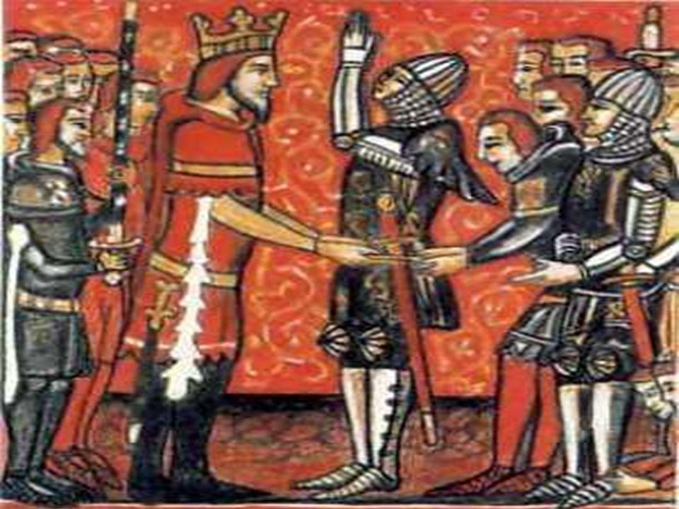 Føydalismen Kongen var avhengig av forholdet til godseierne, som hadde soldater.