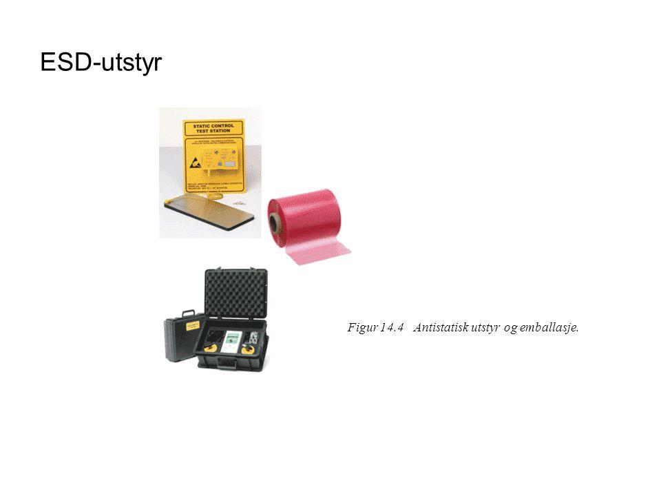 ESD-utstyr Figur 14.4 Antistatisk utstyr og emballasje.