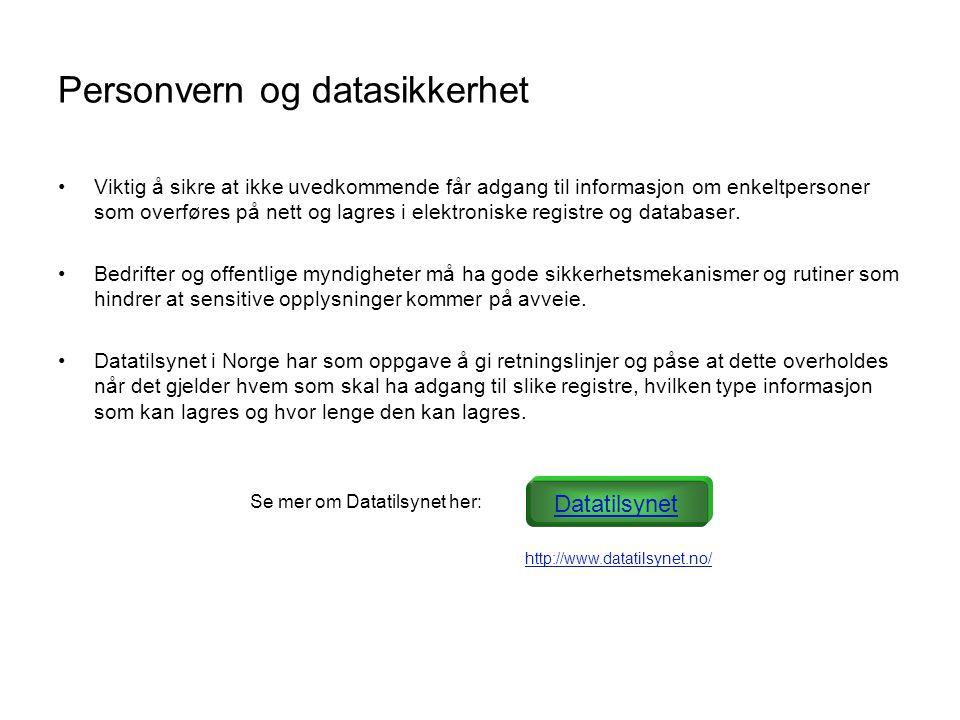 Personvern og datasikkerhet