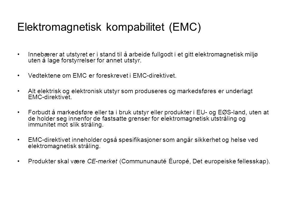 Elektromagnetisk kompabilitet (EMC)