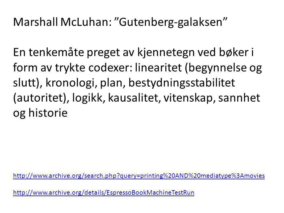 Marshall McLuhan: Gutenberg-galaksen