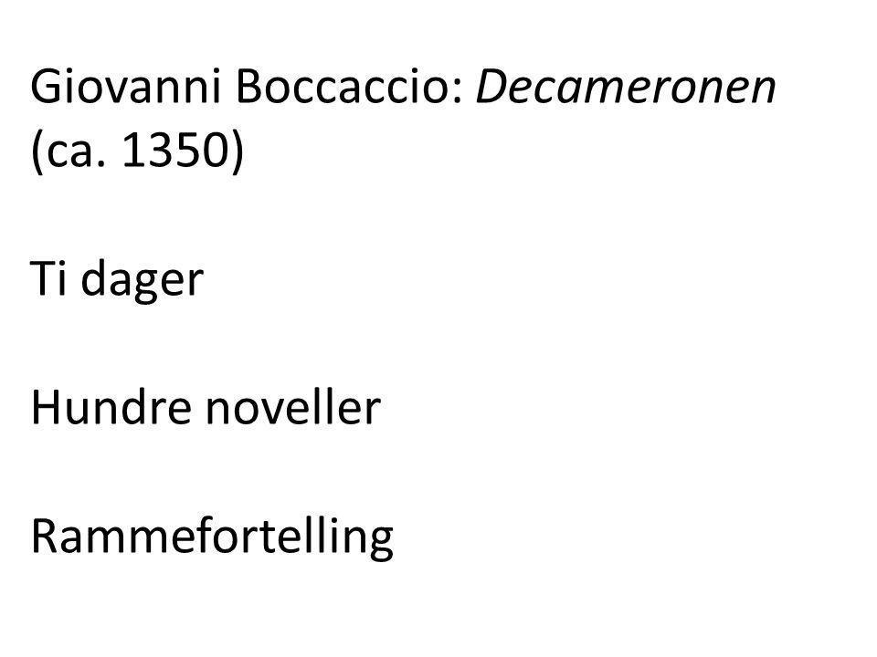 Giovanni Boccaccio: Decameronen