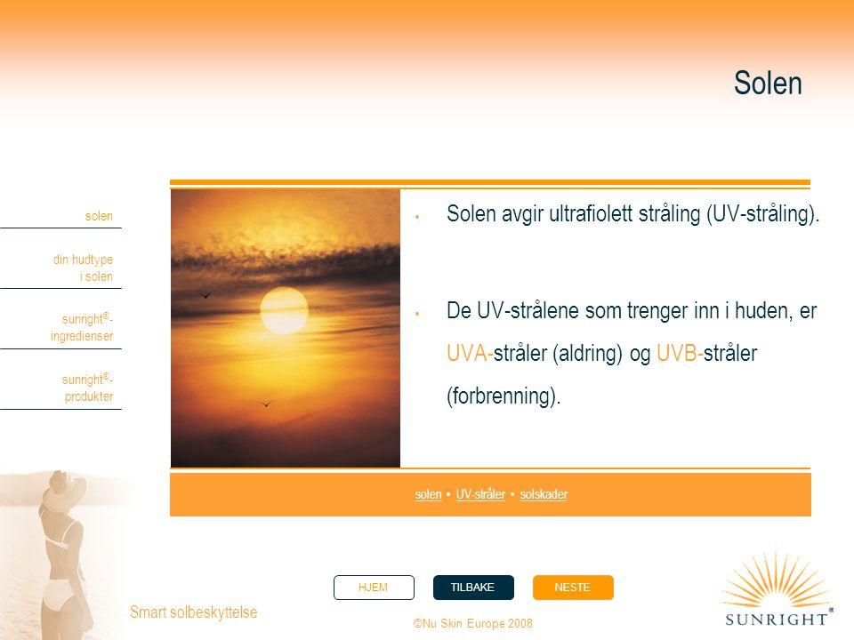 solen • UV-stråler • solskader