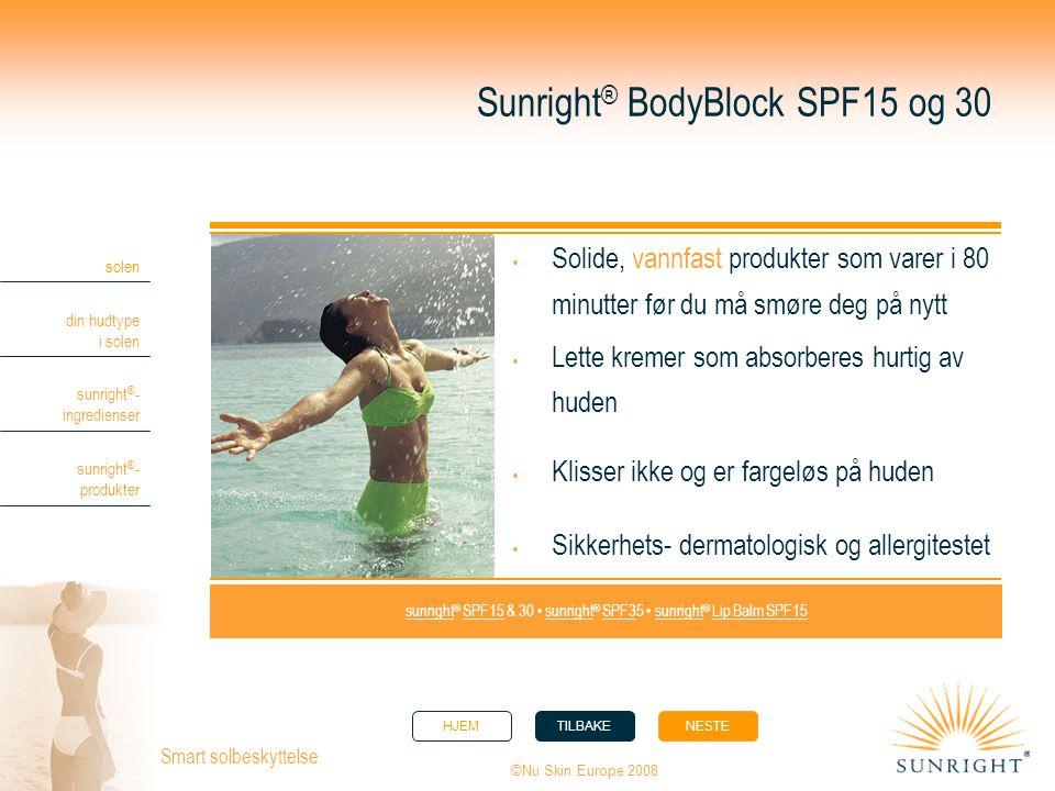 Sunright® BodyBlock SPF15 og 30
