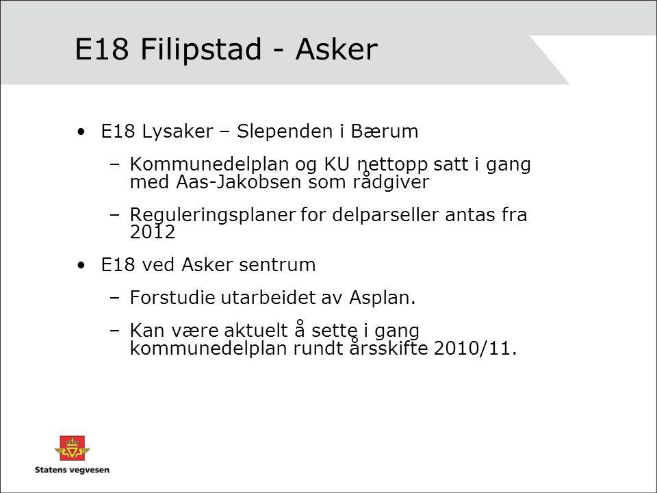 E18 Filipstad - Asker E18 Lysaker – Slependen i Bærum