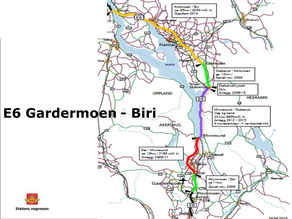 E6 Gardermoen - Biri Prosjektet E6 Gardermoen – Biri har vært i gang en god stund nå og har åpnet parsellene.