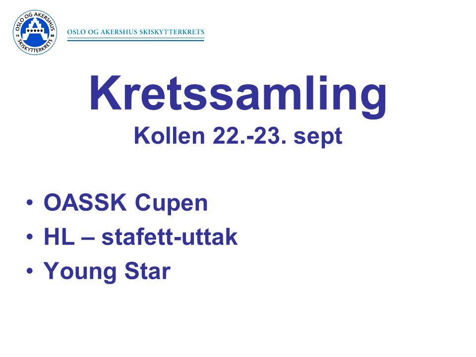 Kretssamling Kollen 22.-23. sept OASSK Cupen HL – stafett-uttak