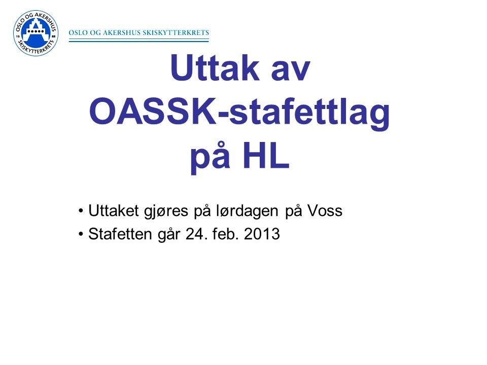 Uttak av OASSK-stafettlag på HL