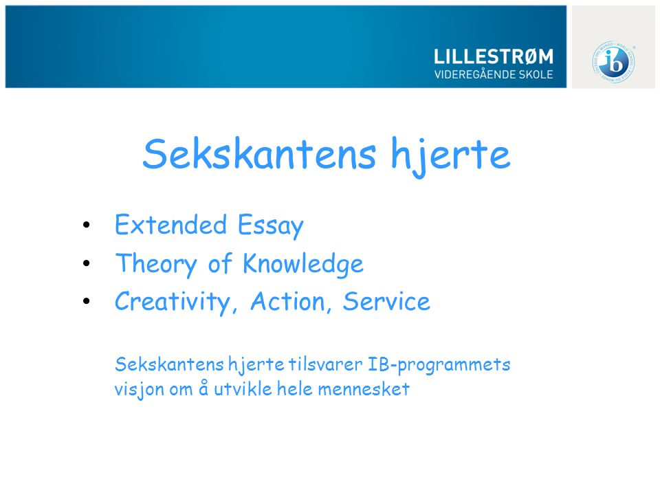 Sekskantens hjerte Extended Essay Theory of Knowledge