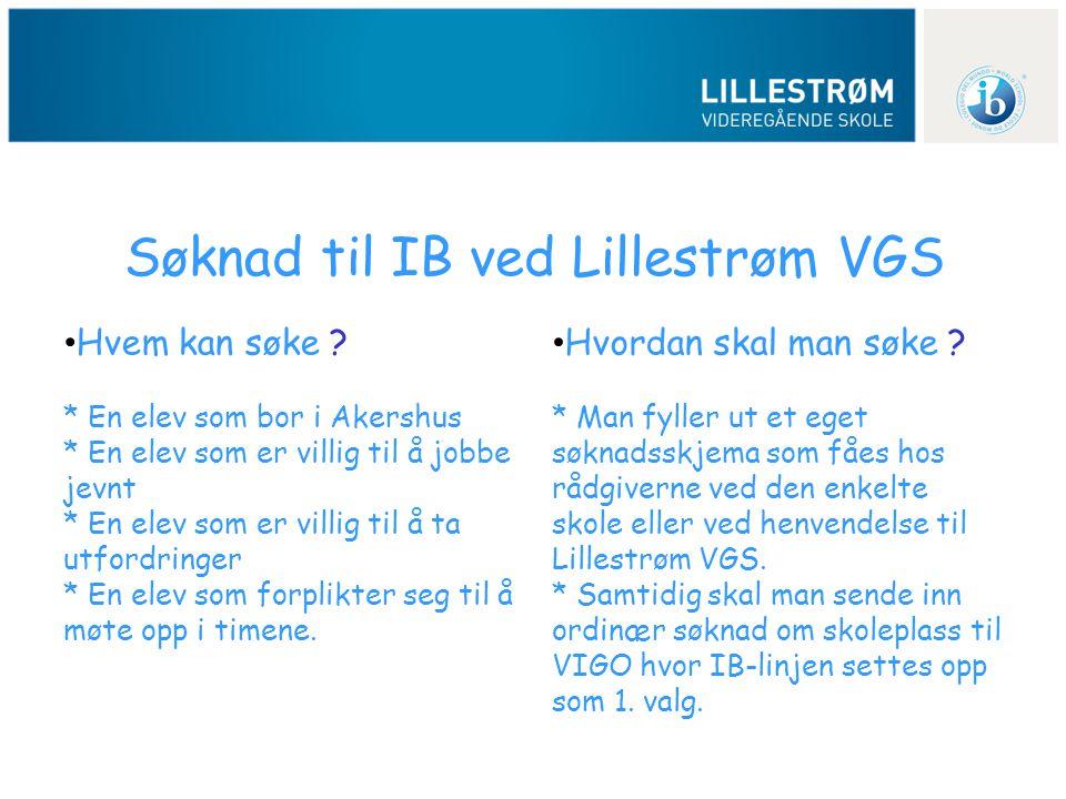 Søknad til IB ved Lillestrøm VGS