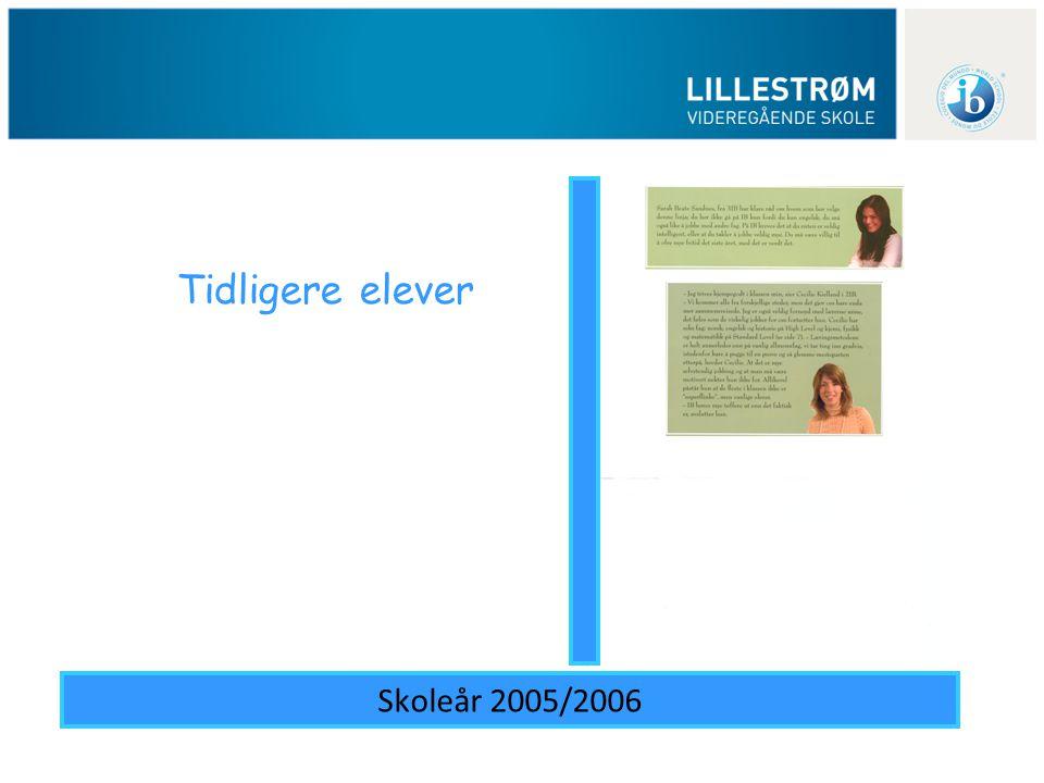 Tidligere elever Skoleår 2005/2006