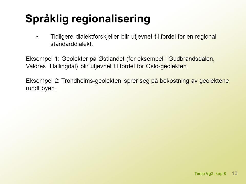 Språklig regionalisering