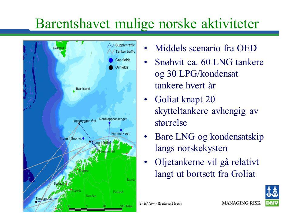 Barentshavet mulige norske aktiviteter