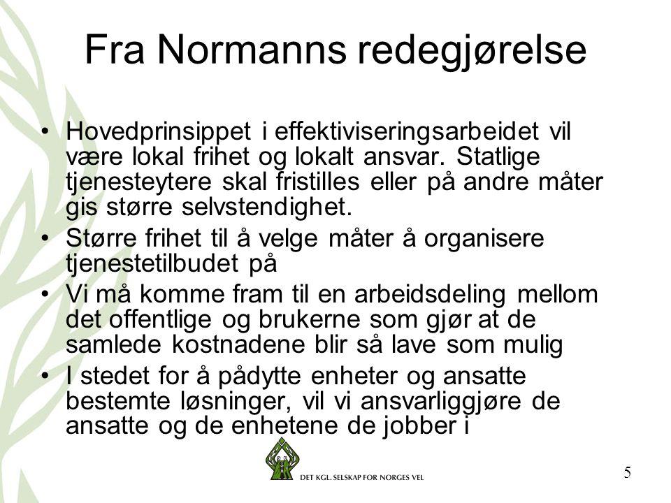 Fra Normanns redegjørelse
