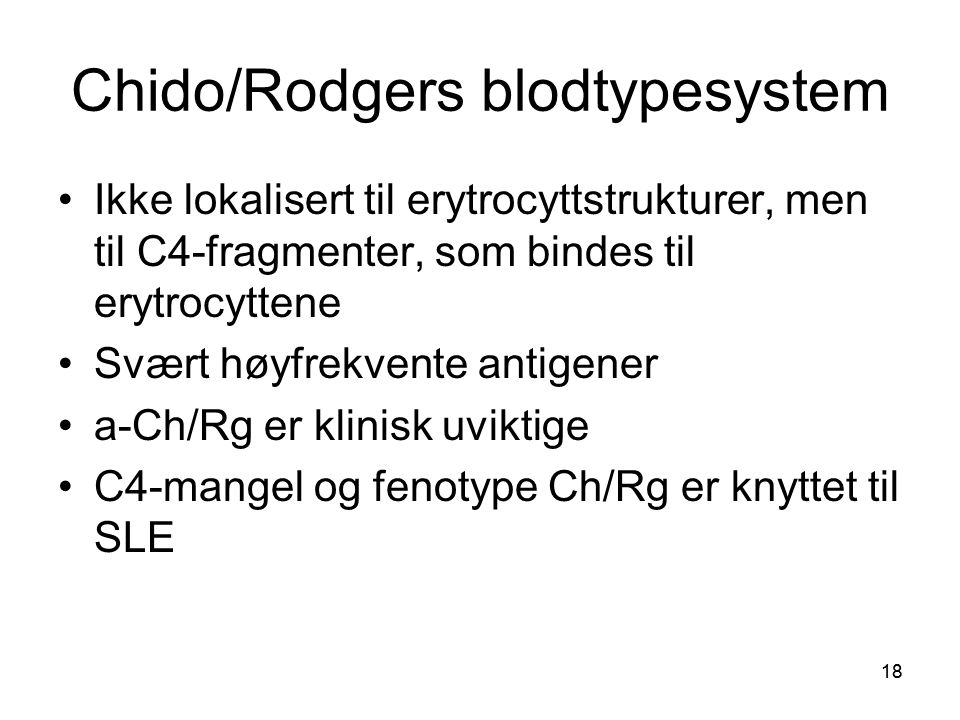 Chido/Rodgers blodtypesystem