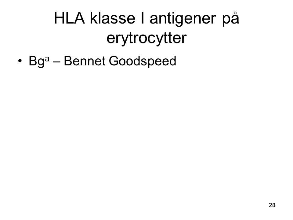 HLA klasse I antigener på erytrocytter