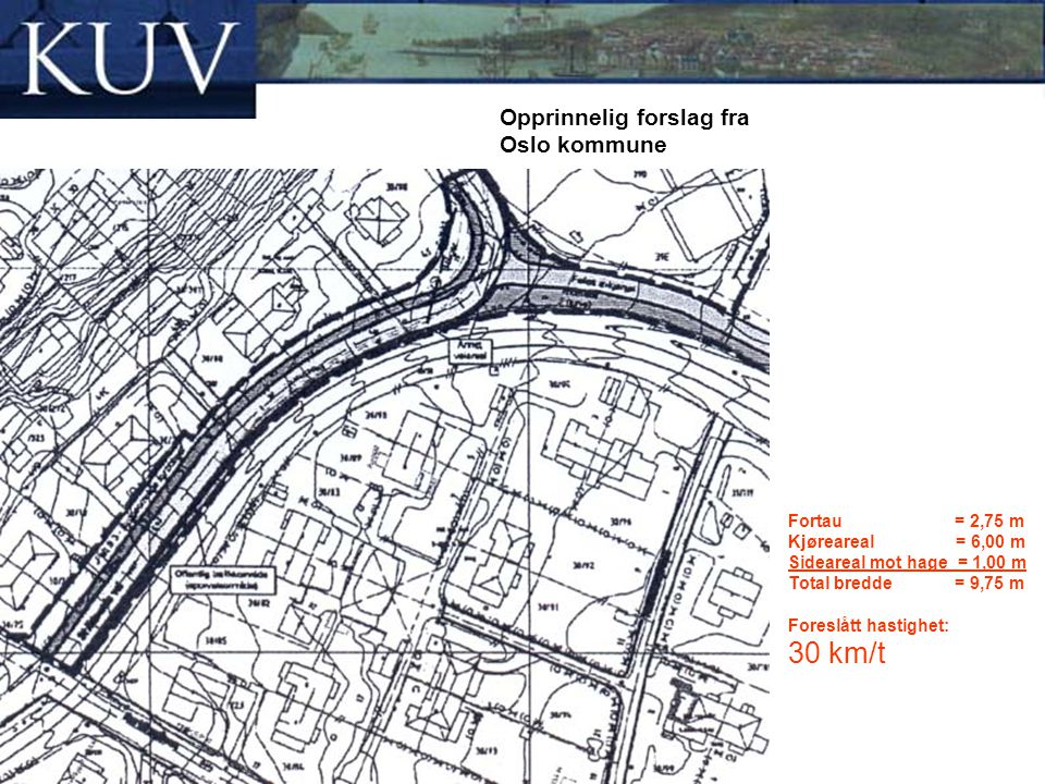 Opprinnelig forslag fra Oslo kommune
