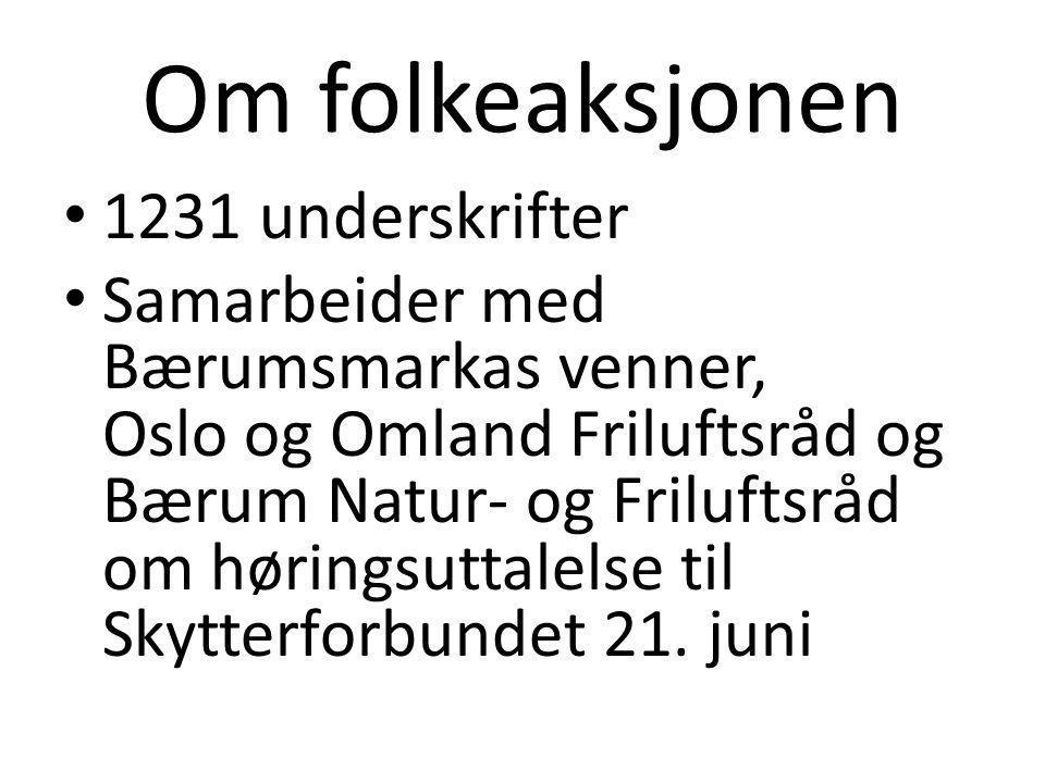 Om folkeaksjonen 1231 underskrifter