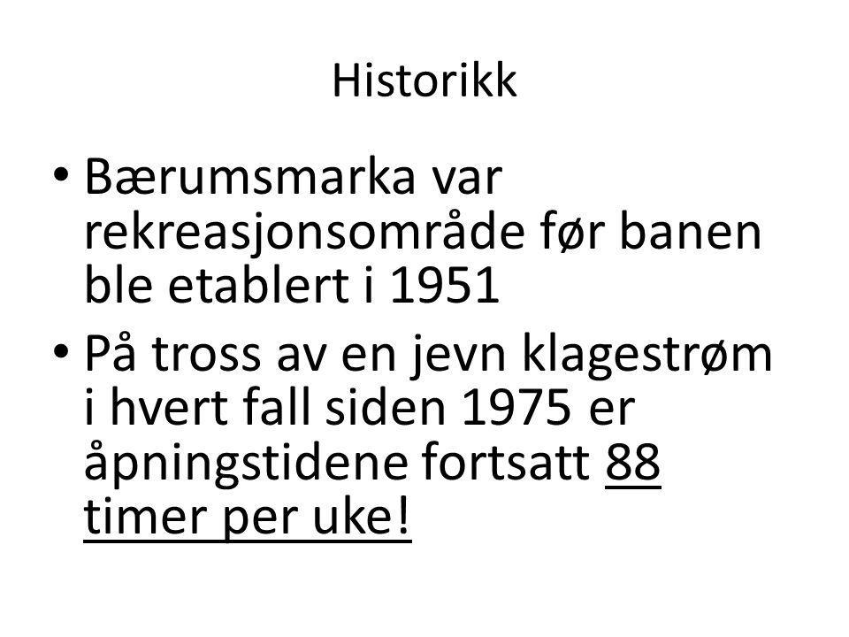 Bærumsmarka var rekreasjonsområde før banen ble etablert i 1951