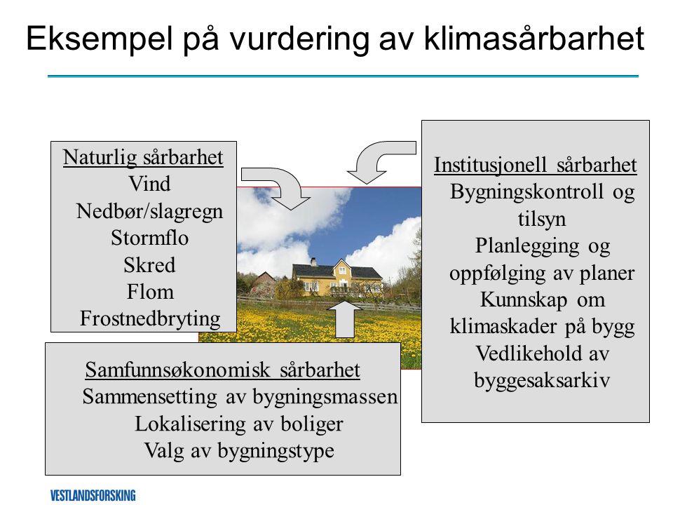 Eksempel på vurdering av klimasårbarhet