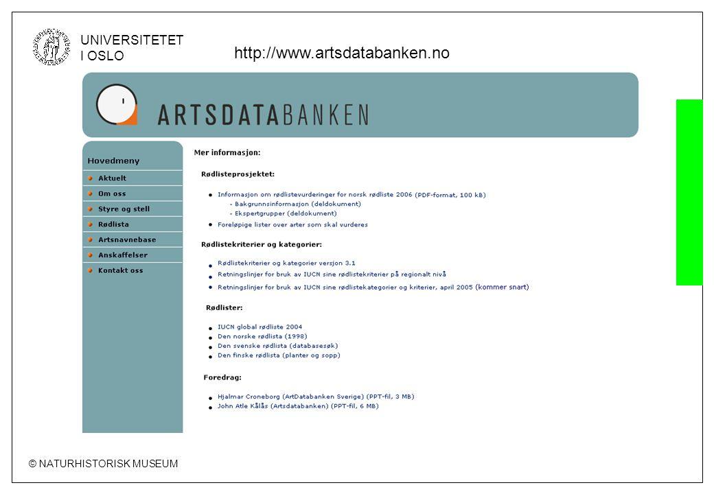 http://www.artsdatabanken.no
