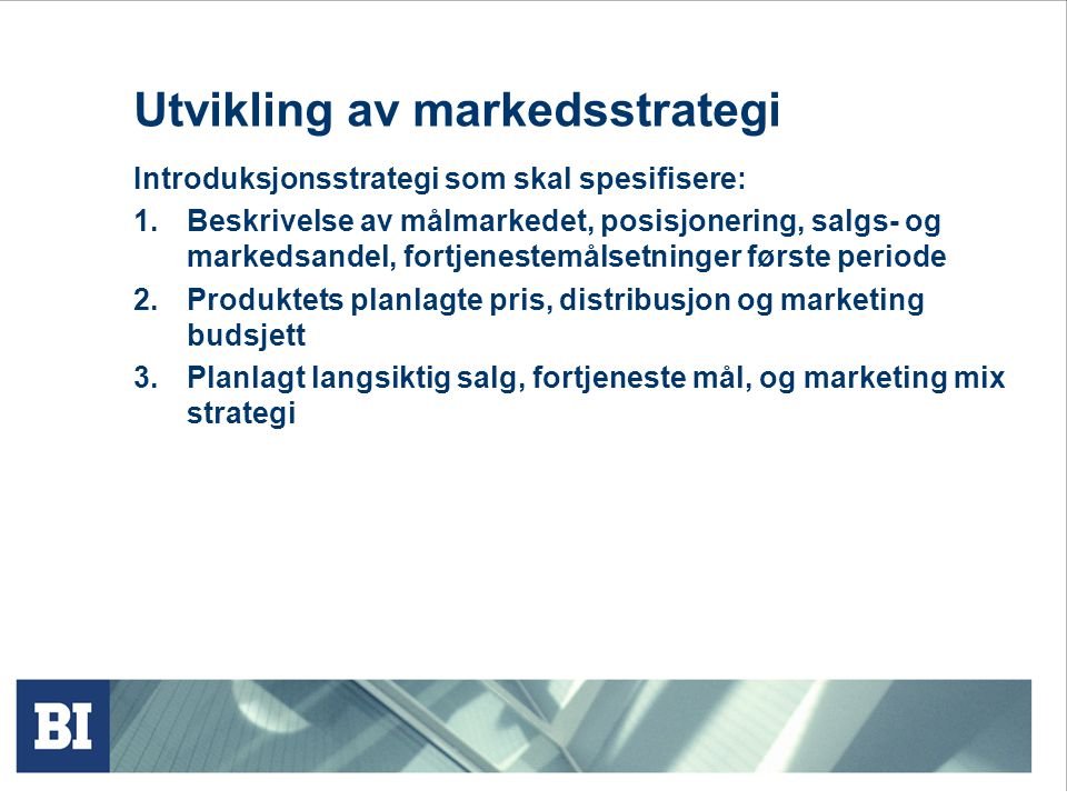 Utvikling av markedsstrategi
