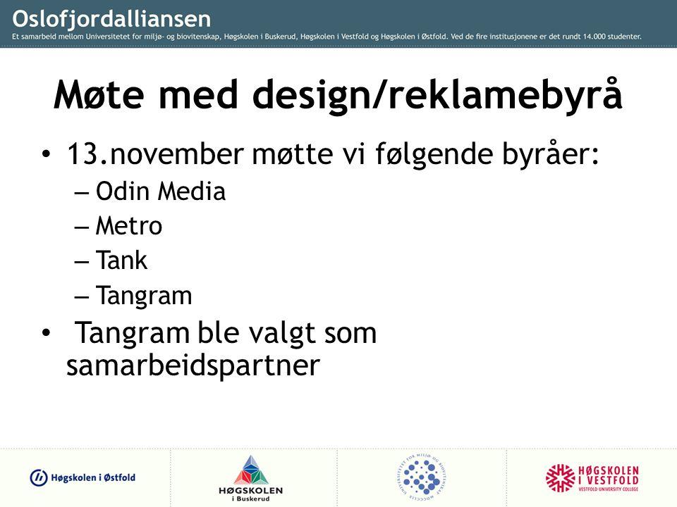 Møte med design/reklamebyrå