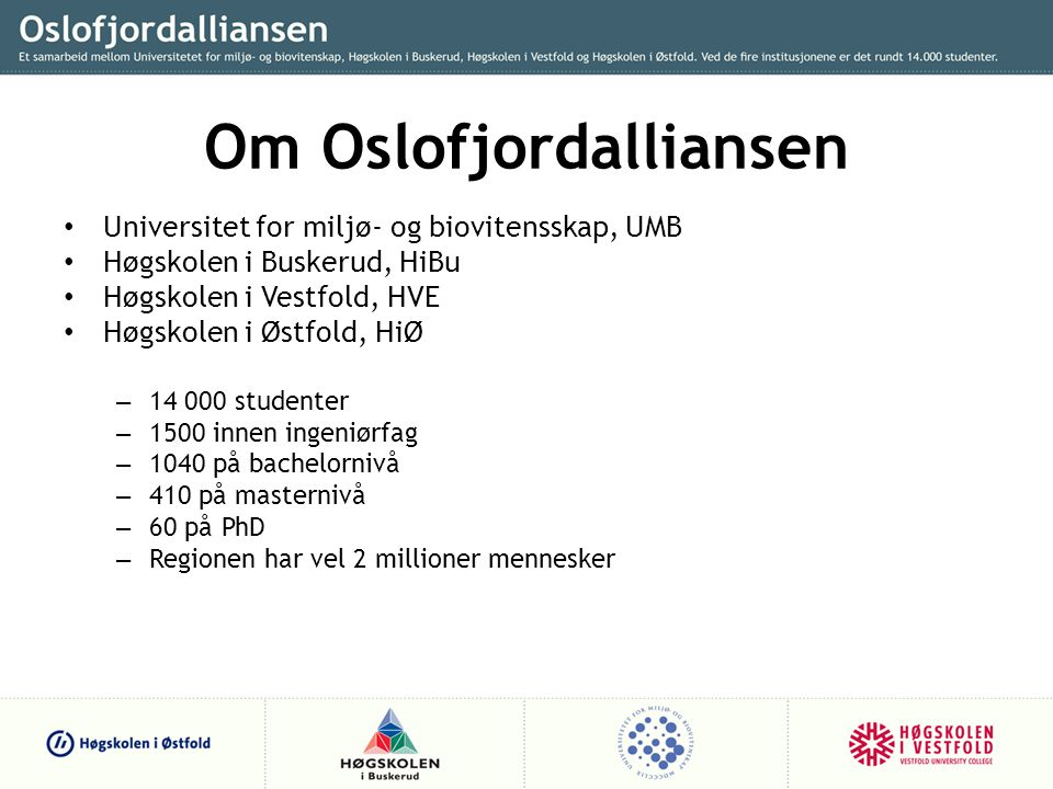 Om Oslofjordalliansen