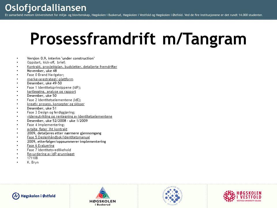 Prosessframdrift m/Tangram