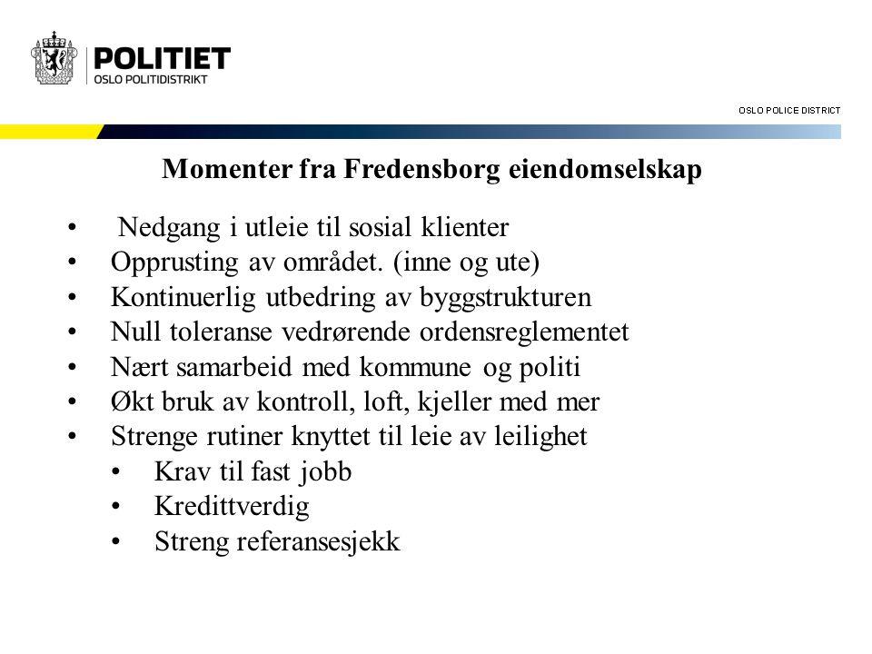 Momenter fra Fredensborg eiendomselskap