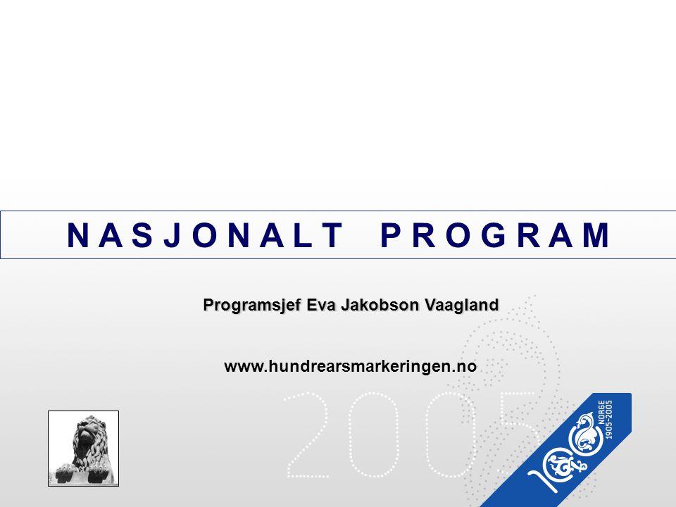 Programsjef Eva Jakobson Vaagland