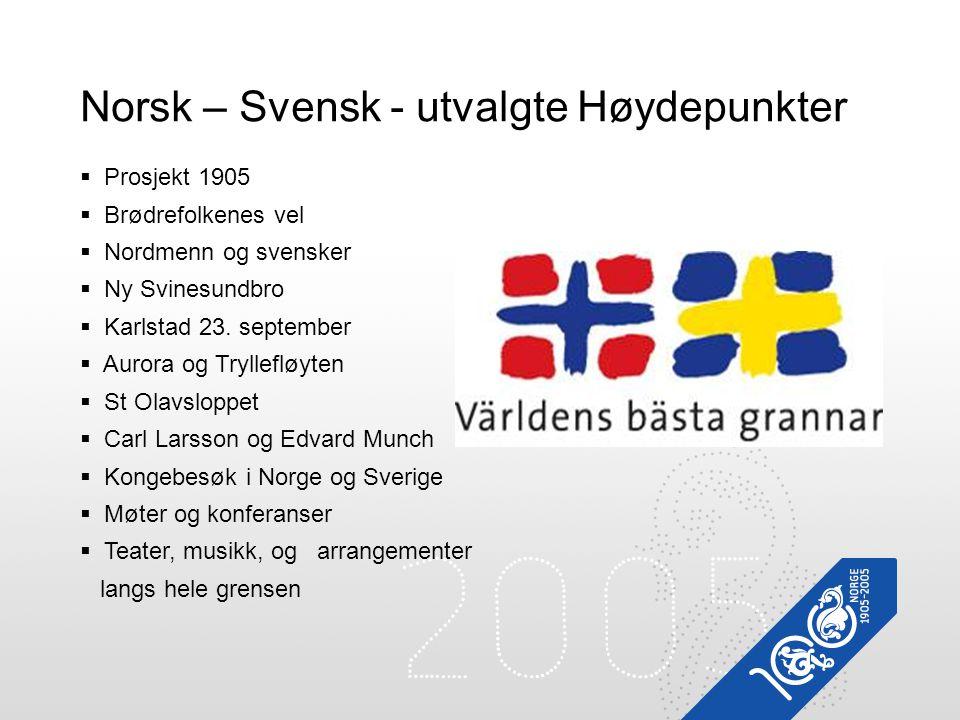 Norsk – Svensk - utvalgte Høydepunkter