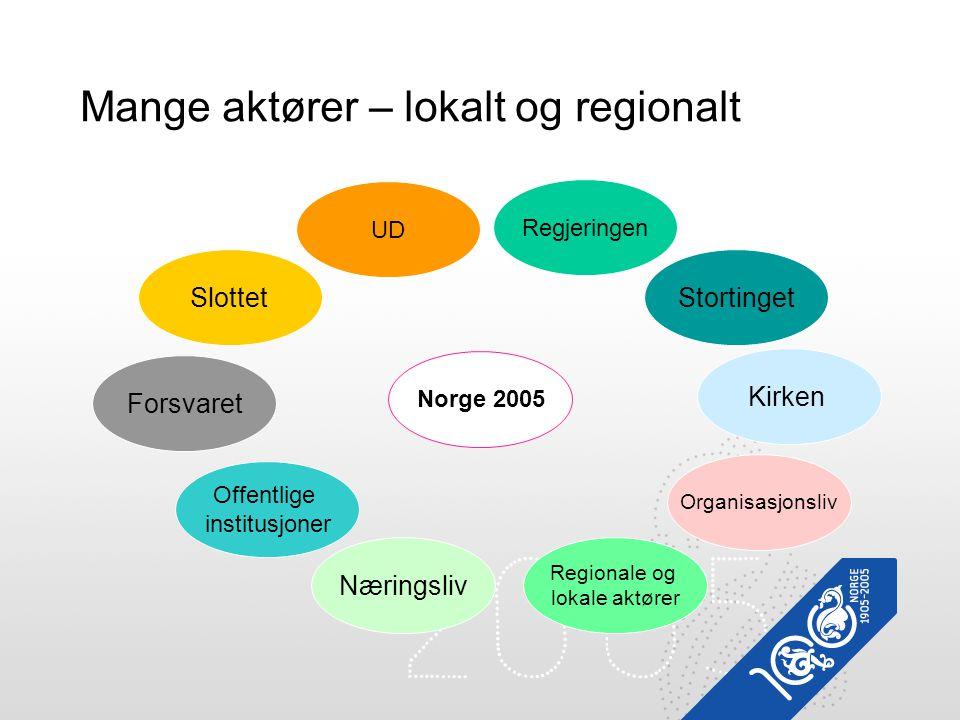 Mange aktører – lokalt og regionalt