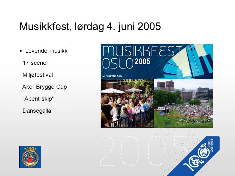 Musikkfest, lørdag 4. juni 2005