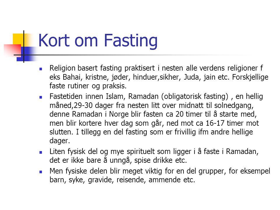 Kort om Fasting