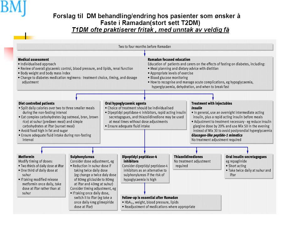 Forslag til DM behandling/endring hos pasienter som ønsker å