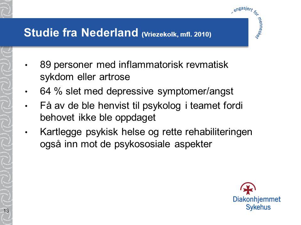 Studie fra Nederland (Vriezekolk, mfl. 2010)