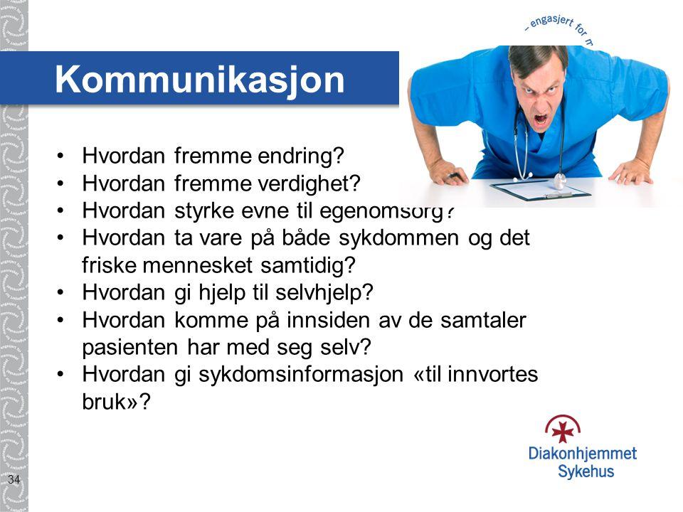 Kommunikasjon Hvordan fremme endring Hvordan fremme verdighet