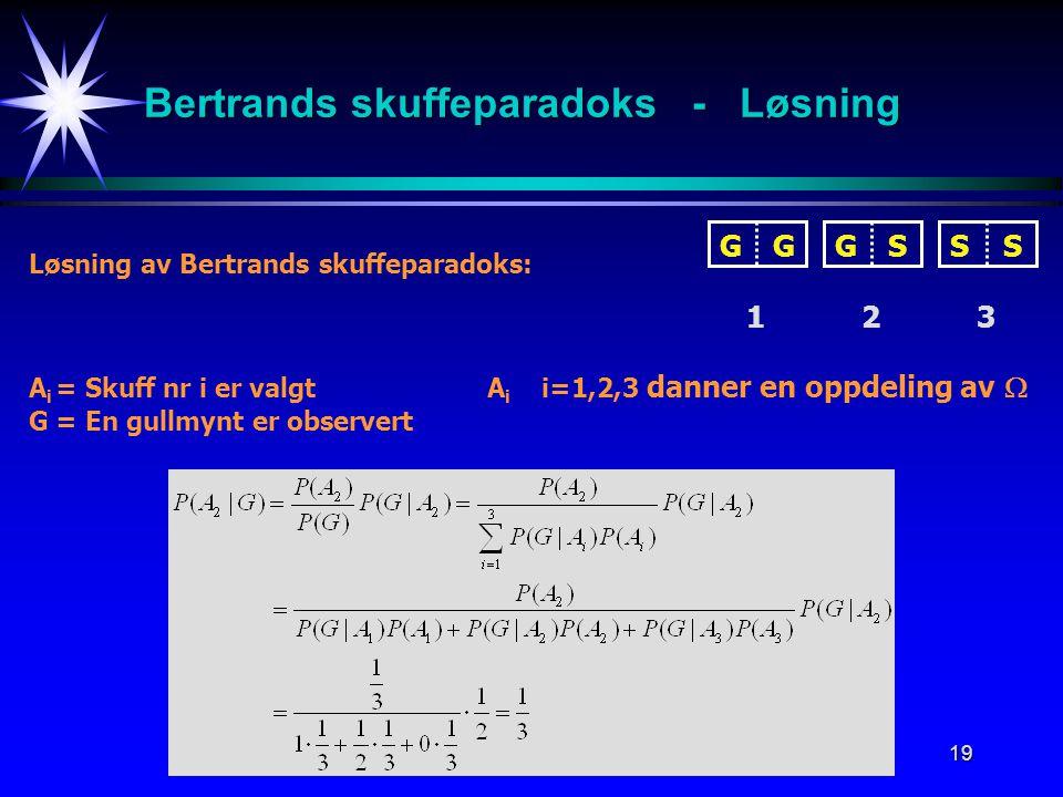Bertrands skuffeparadoks - Løsning